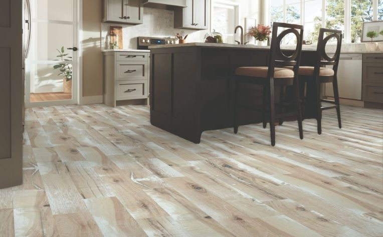 Grained Hardwood Kitchen Flooring